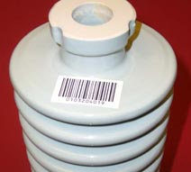 electrical insulator with barcode